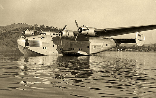 Pan Am 314A Clipper flying boat on Clear Lake